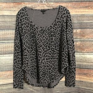Lucky brand leopard print thermal top